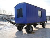 Мобильное здание вагончик на прицеп шасси для проживания восьми человек Модульные здания повсеместно используются для возведения строительных городков, Ярославль - Разное