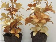 Красноярск: Сувенирные цветы Все сделано из дерева. Лиственница, сосна, кора кедра. Пропитаны льняным маслом