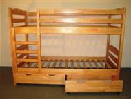 Кровать детская двухъярусная деревянная Кровать детская двухъярусная деревянная. Спальное место размером 600*1200 или 700*2000 мм. Ящики делаем отдель, Магнитогорск - Мебель для детей