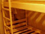 Кровать взрослая двухъярусная деревянная Кровать взрослая двухъярусная деревянная. Спальное место размером 800*1900 или 900*2000 мм. Можем сделать с я, Магнитогорск - Мебель для спальни