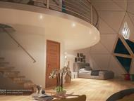 Умный Деревянный Купольный пасивхаус 200 м2 под отделку Продаются высококачественные домокомплекты под чистовую отделку. От 500 евро за м2.     Термои, Москва - Строительство домов, коттеджей
